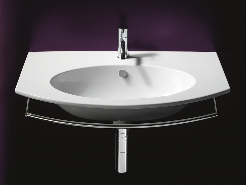 Oval wall-mounted ceramic washbasin VELIS 80 | Washbasin - CERAMICA CATALANO