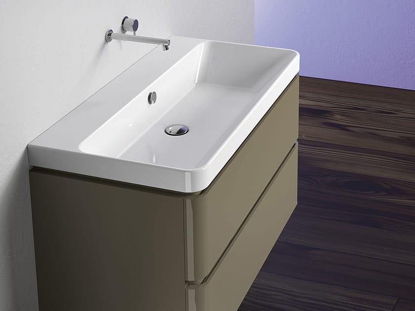 Rectangular ceramic washbasin PROIEZIONI 90 | Washbasin - CERAMICA CATALANO