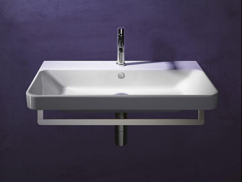 Rectangular wall-mounted ceramic washbasin PROIEZIONI 75 | Washbasin - CERAMICA CATALANO