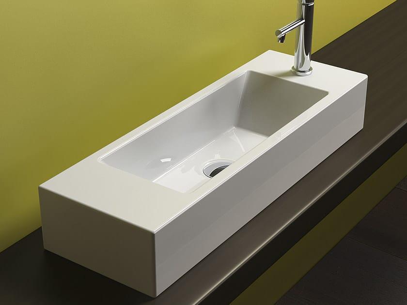 Countertop rectangular ceramic washbasin VERSO VENTICINQUE 75 | Washbasin - CERAMICA CATALANO