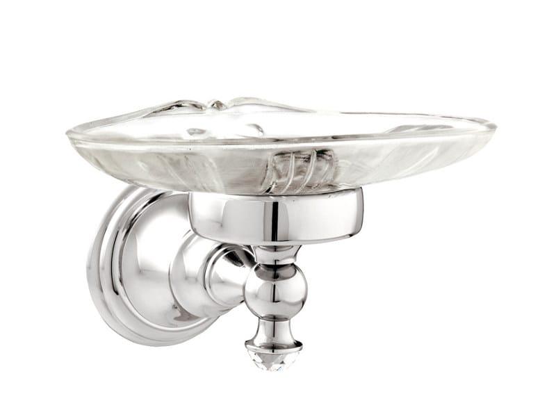 Brass soap dish with Swarovski® Crystals ATLANTICA | Soap dish with Swarovski® Crystals - Bronces Mestre