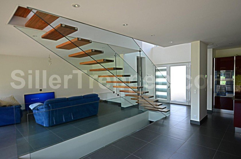 tempered glass open staircase floating stairs by siller