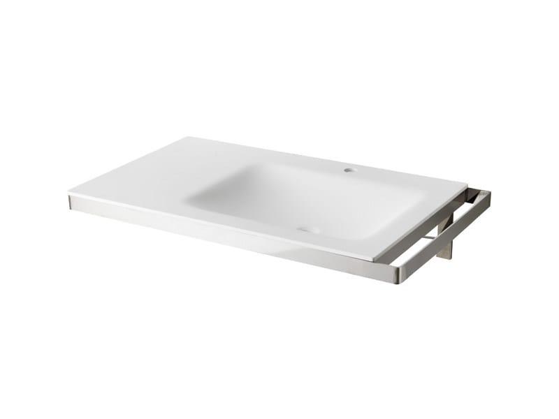 Lavabo a consolle singolo sospeso in acciaio inox design for Listino velux 2016