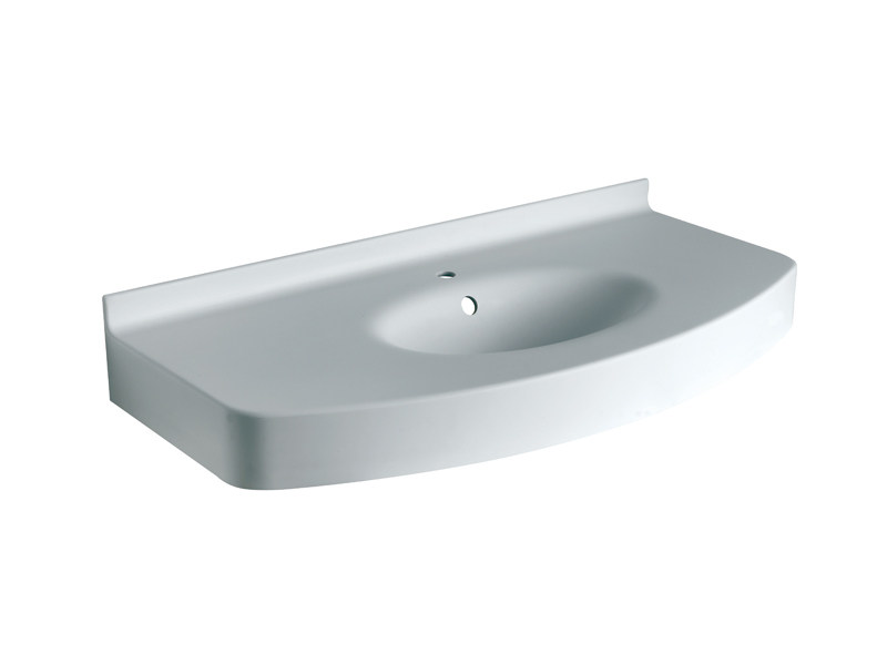 Console wall mounted hi macs washbasin form form for Ponte giulio