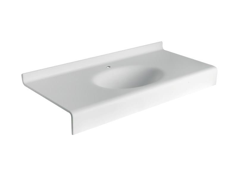Lavabo console suspendu en hi macs print by midioplan by for Console lavabo salle de bain