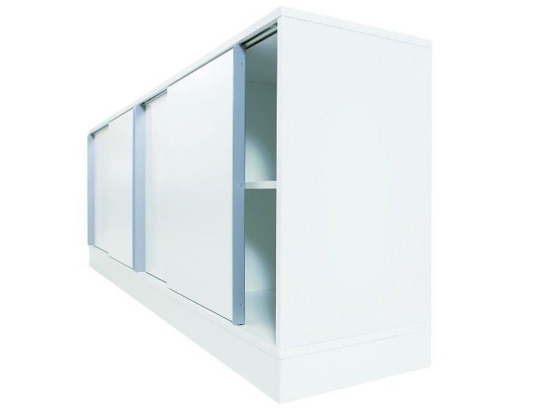 Mobile ufficio basso modulare in metallo collezione snitsa for Mobile ufficio basso