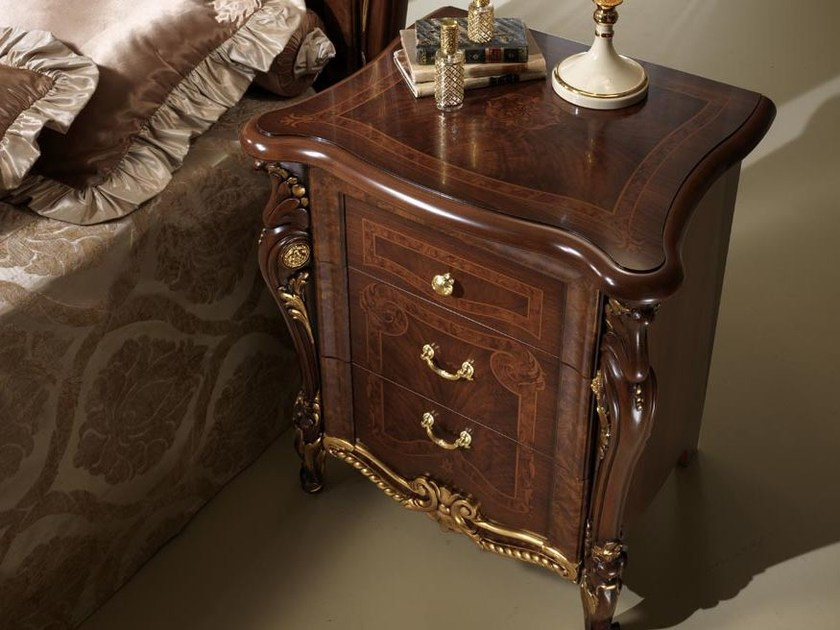 Classic style bedside table with drawers DONATELLO | Bedside table - Arredoclassic