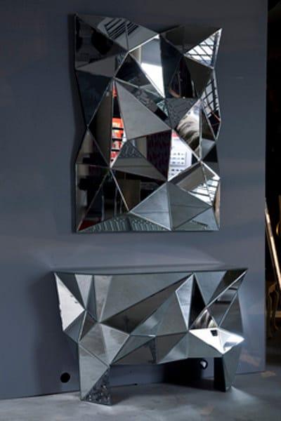 Consolle in vetro a specchio prisma consolle kare design - Specchio prisma riflessi prezzo ...