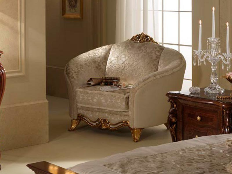 Classic style upholstered armchair DONATELLO | Armchair - Arredoclassic
