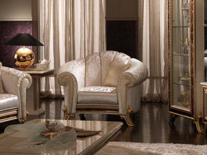 Classic style upholstered armchair RAFFAELLO | Armchair by Arredoclassic