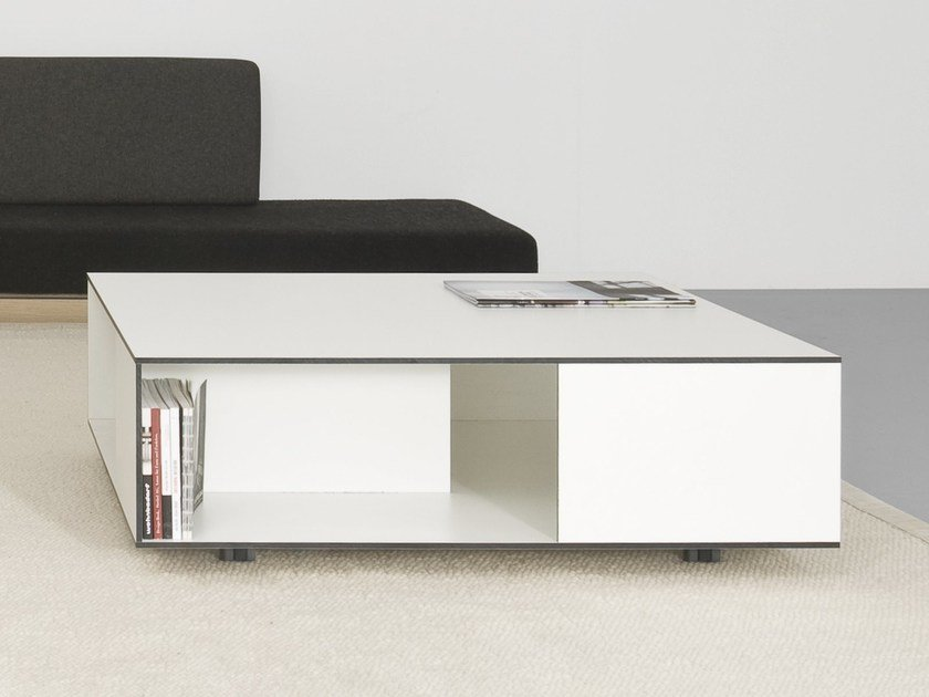 Coffee table with casters FLAT - Sanktjohanser