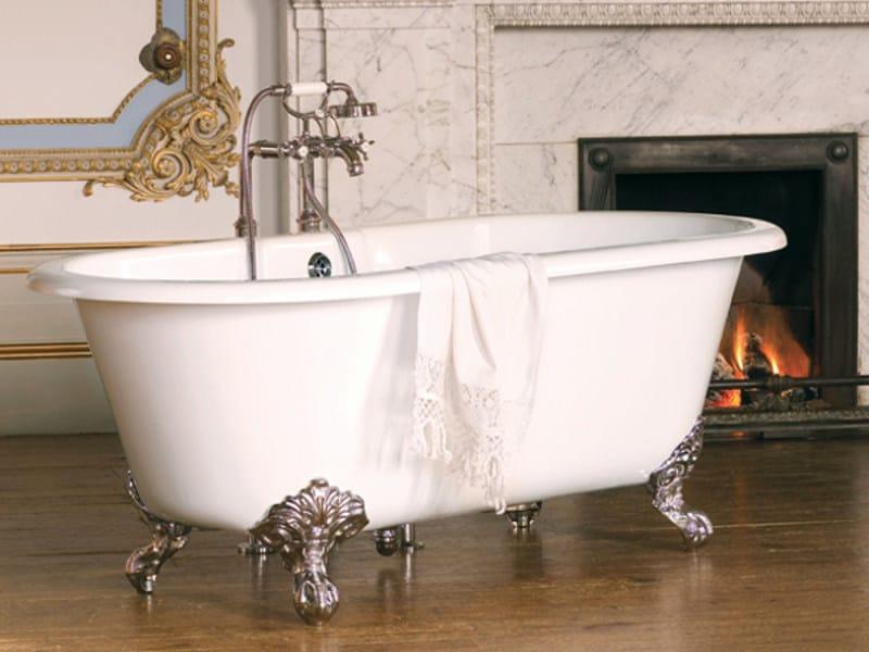 Baignoire en quarrycast sur pieds cheshire by victoria albert - Contenance d une baignoire ...