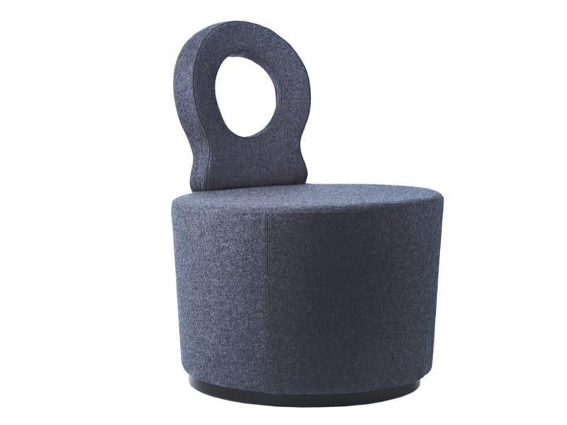 Upholstered fabric easy chair EYE EC - Johanson Design