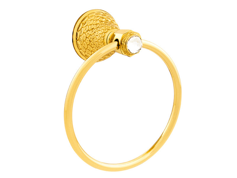 Brass towel ring with Swarovski® Crystals DRAGON | Towel ring with Swarovski® Crystals - Bronces Mestre