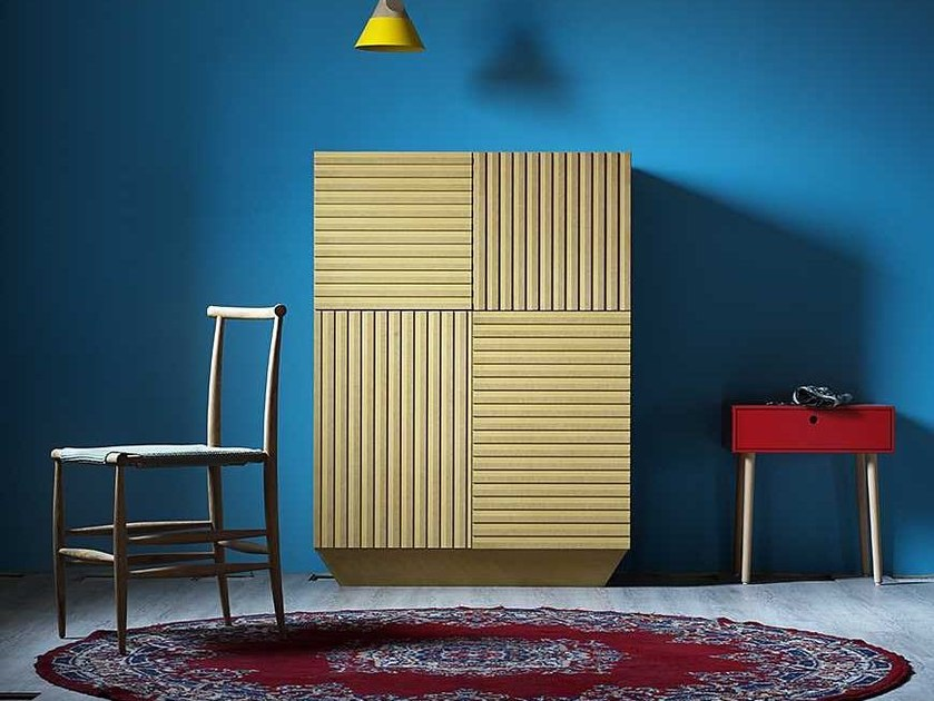Lacquered highboard with doors CODE | Highboard - Miniforms