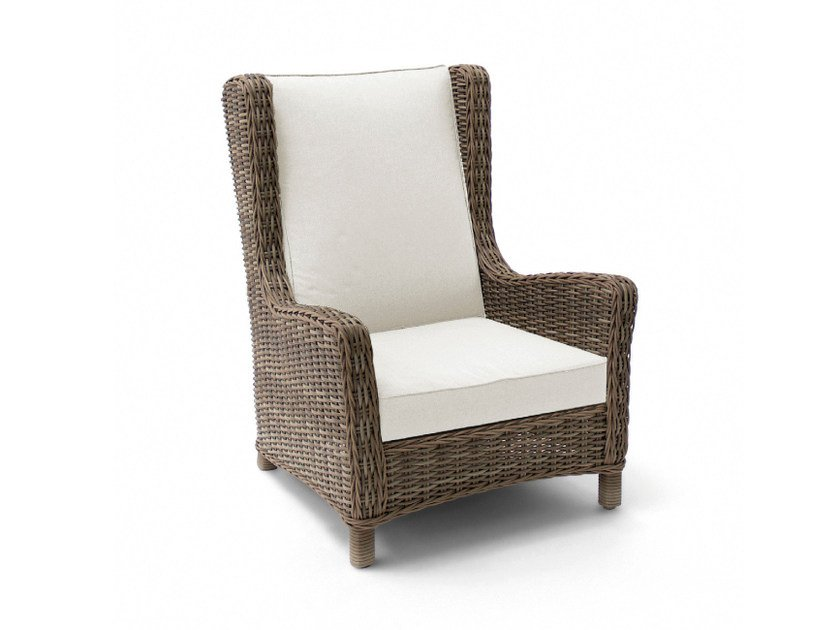 High-back wingchair with armrests SAN DIEGO | Garden chair with high back - MANUTTI