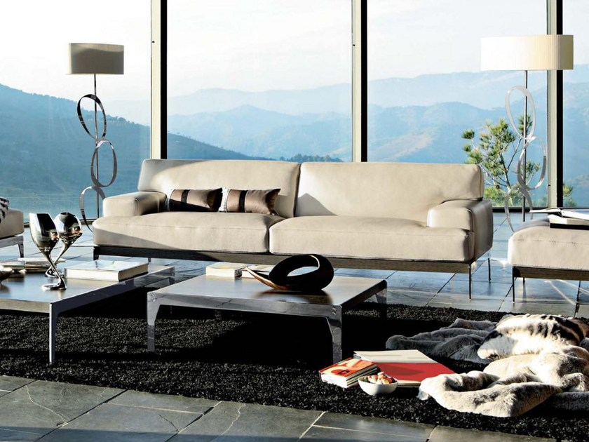 Canap rembourr en cuir lexique collection les for Catalogue canape roche bobois