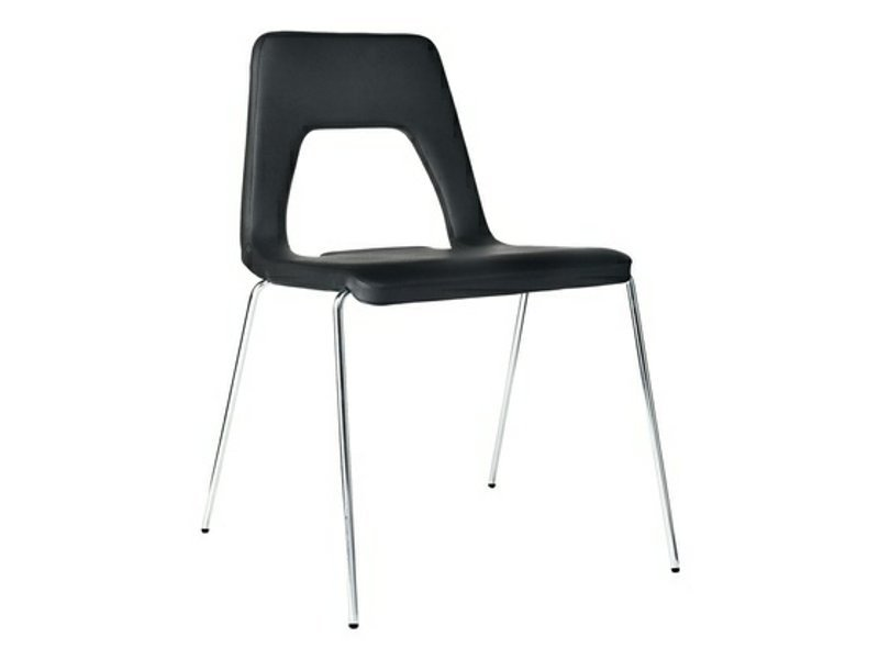 Upholstered stackable leather chair STUDIO | Chair by Johanson Design