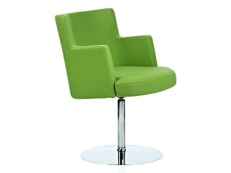 Upholstered guest chair with armrests CAPE | Easy chair by Johanson Design
