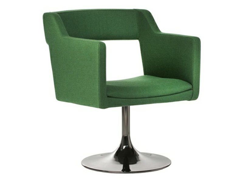 Swivel upholstered chair with armrests KENNEDY | Swivel chair by Johanson Design