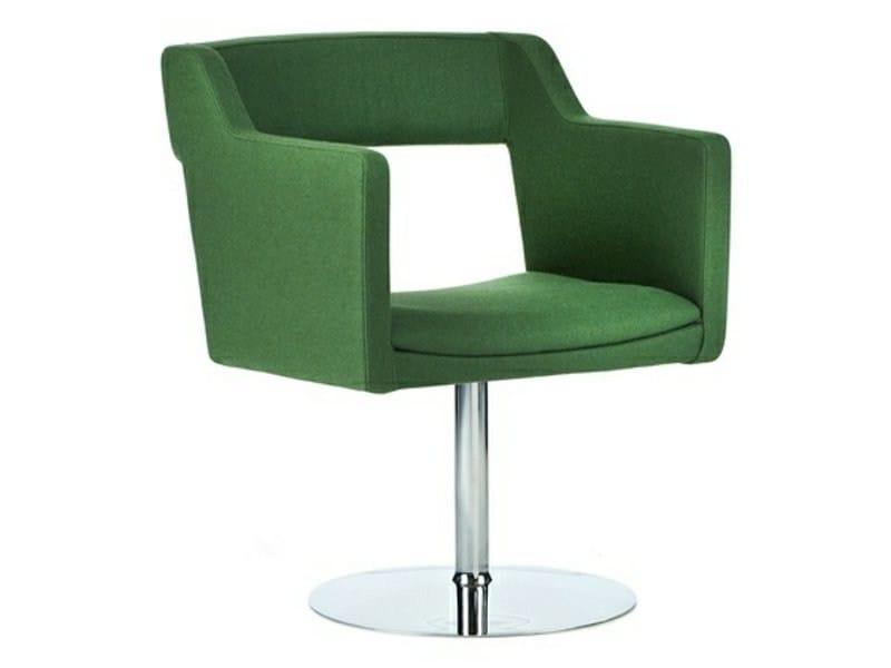 sedia girevole imbottita con braccioli kennedy sedia