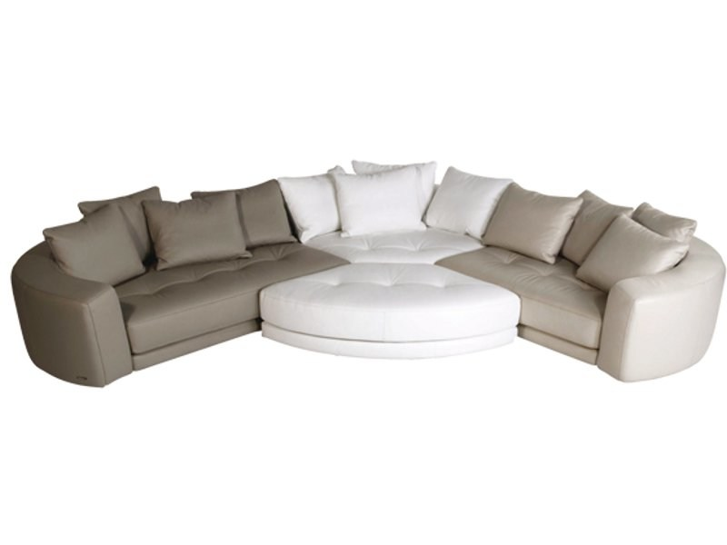 Sectional Leather Sofa Allusion Les Contemporains
