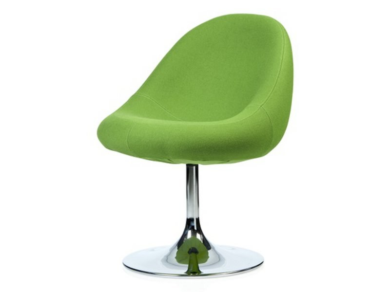 Upholstered fabric easy chair MEDIA | Swivel easy chair - Johanson Design