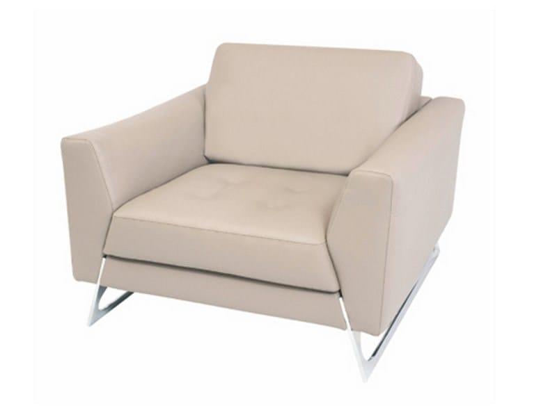 fauteuil en cuir satelis collection les contemporains by roche bobois design sacha lakic. Black Bedroom Furniture Sets. Home Design Ideas