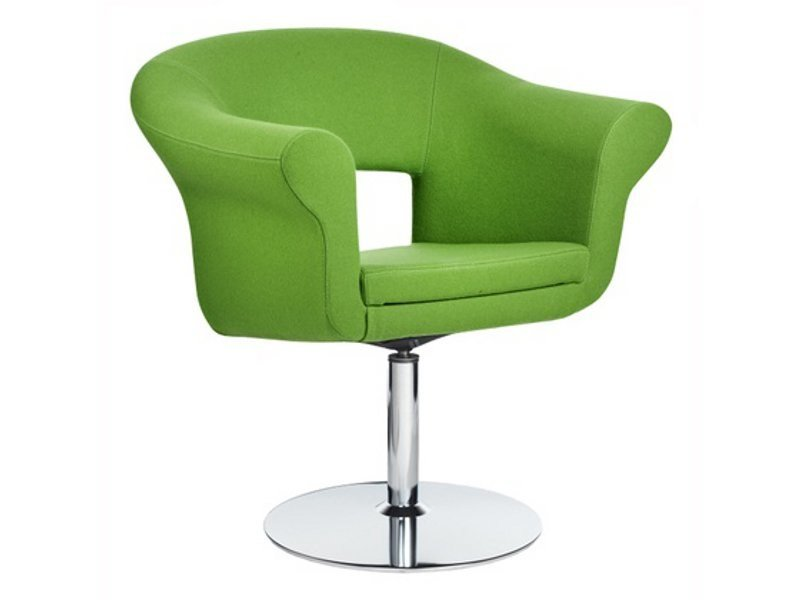 Swivel guest chair with armrests CUBA | Swivel easy chair - Johanson Design