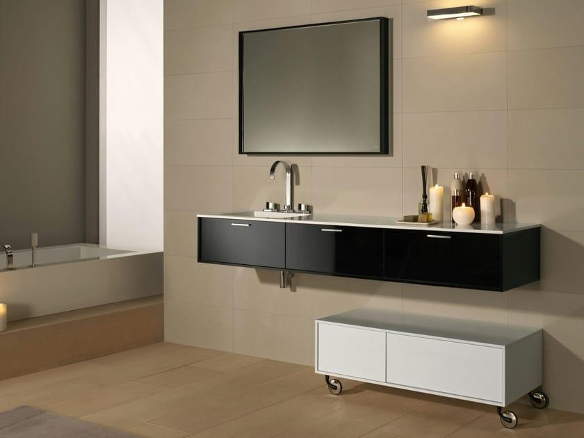 Mueble bajo lavabo de madera con espejo negro colecci n - Mueble bajo lavabo ...