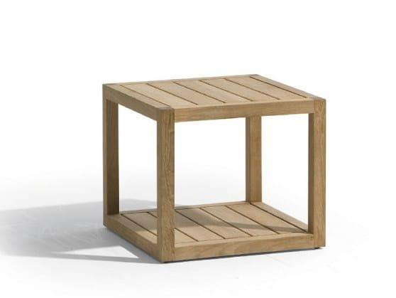 Low teak garden side table SIENA | Garden side table - MANUTTI