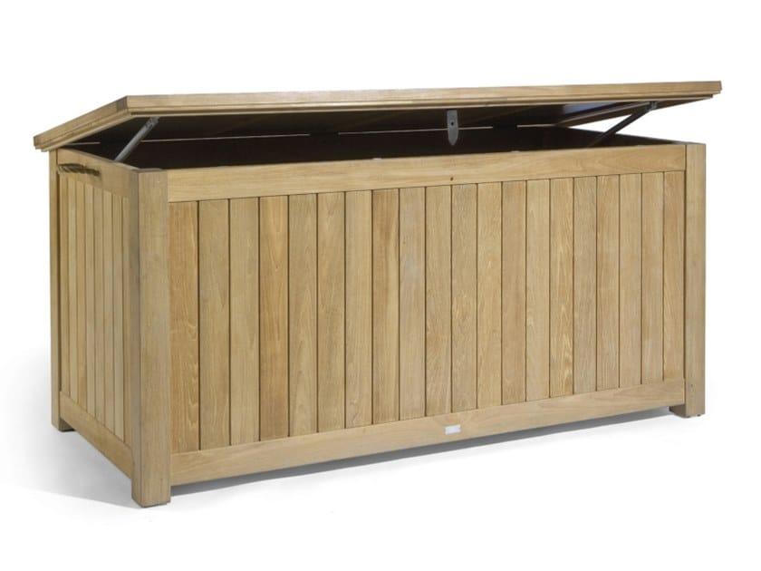 Teak garden storage box SIENA | Storage chest - MANUTTI