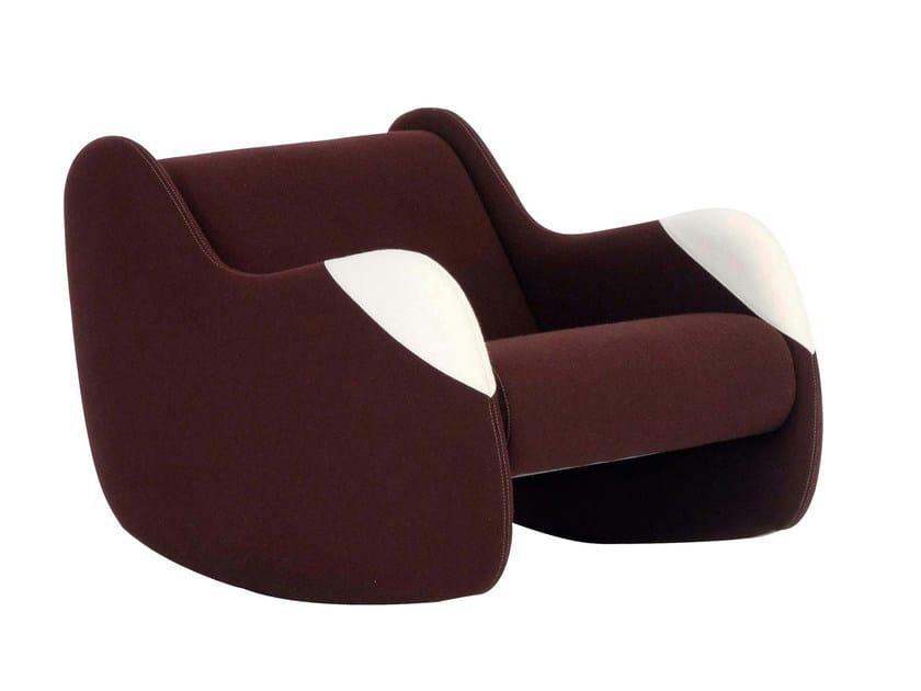 fauteuil en cuir panda by roche bobois. Black Bedroom Furniture Sets. Home Design Ideas