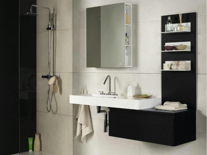 Mobile bagno sospeso wenge oak collezione zero by muebles dica for Specchio wenge