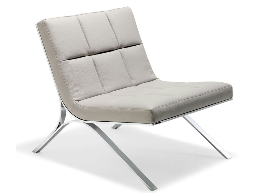 Fauteuil en cuir skool collection les contemporains by for Salon en cuir roche bobois