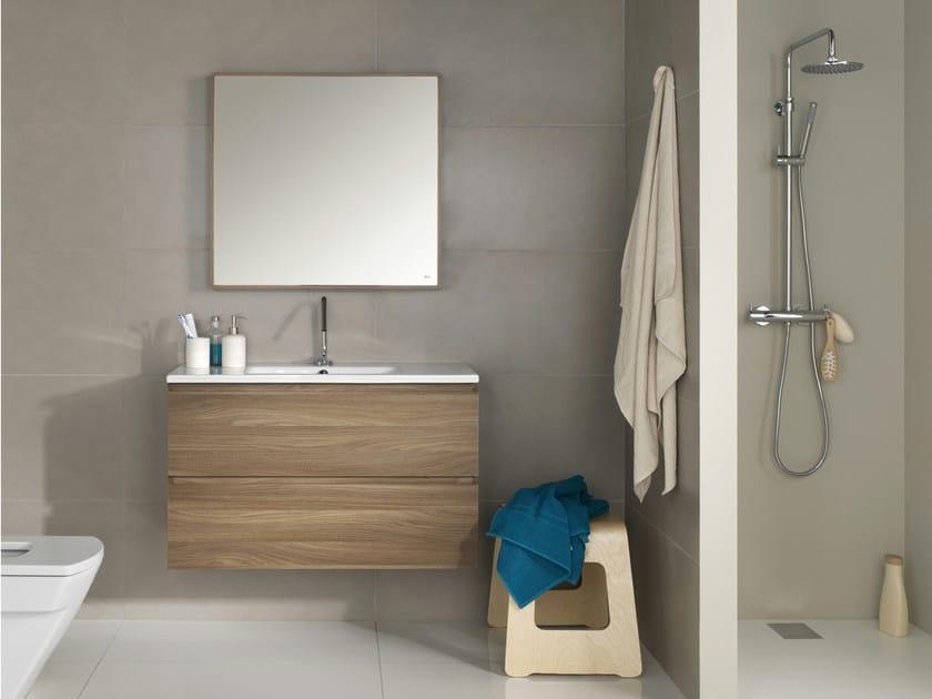 Mueble bajo lavabo suspendido walnut colecci n zero by - Mueble lavabo suspendido ...