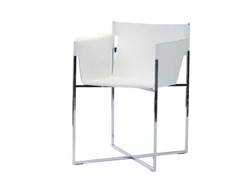 Chaise en cuir fyn chaise avec accoudoirs roche bobois - Chaise roche bobois cuir ...