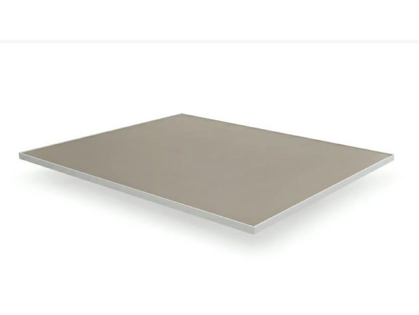 Low Rectangular aluminium garden side table LUNA | Garden side table - MANUTTI