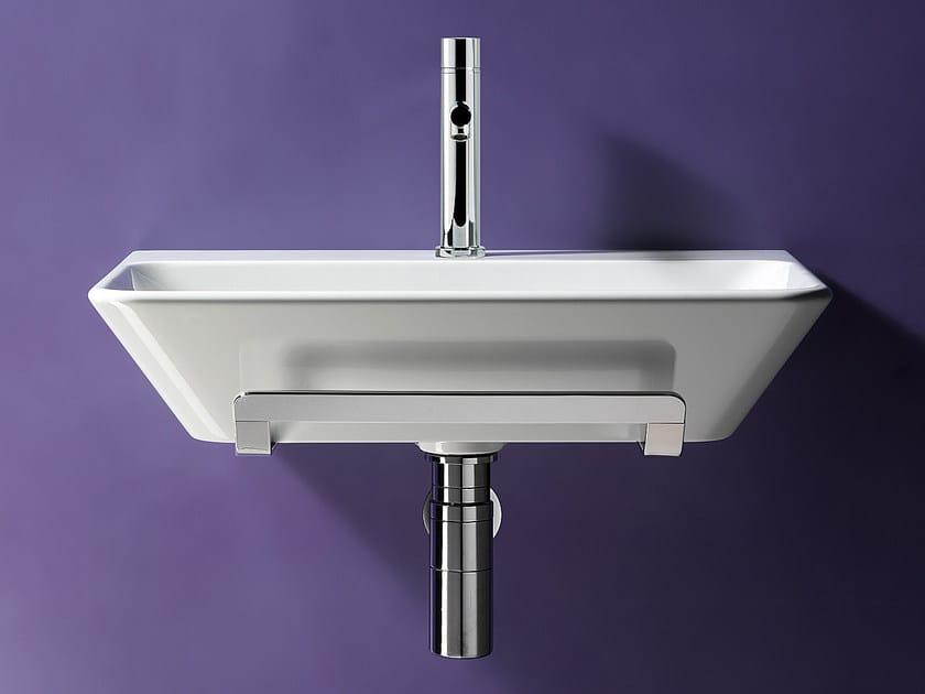 Rectangular wall-mounted ceramic washbasin PROIEZIONI 60 | Washbasin - CERAMICA CATALANO