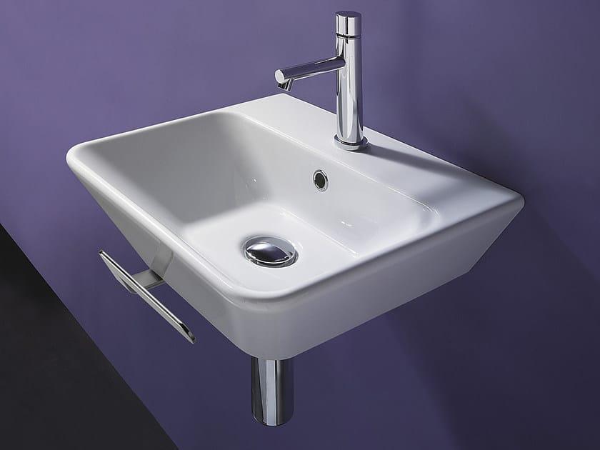 Wall-mounted ceramic washbasin PROIEZIONI 42 - CERAMICA CATALANO