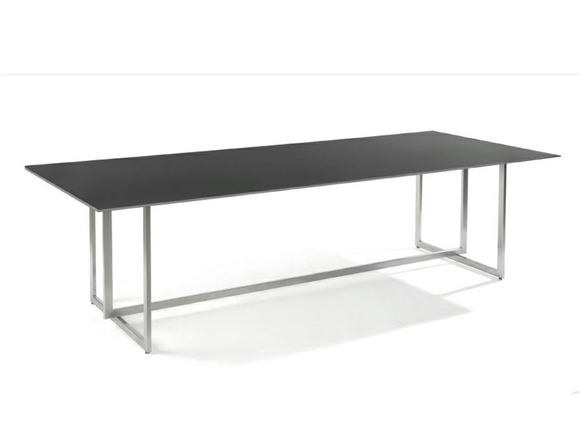 Rectangular aluminium garden table LUCCA - MANUTTI