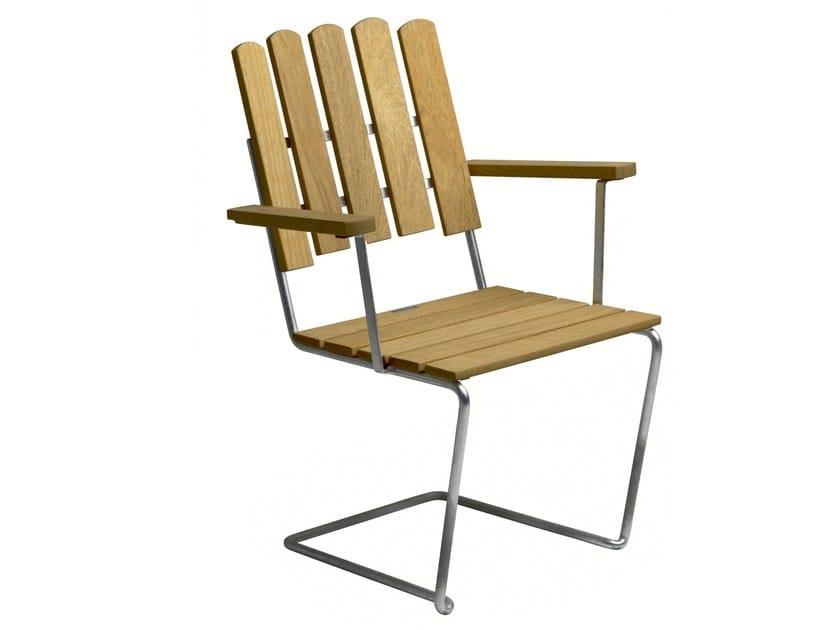 Teak garden chair A2 | Garden chair - Grythyttan Stålmöbler