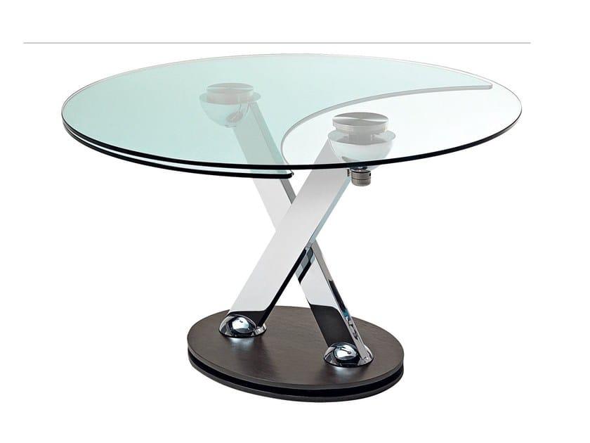 Tavolo da pranzo in cristallo lunch time collezione les for Prolunga tavolo
