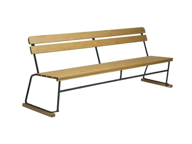 Bench with back 5 | Bench - Grythyttan Stålmöbler