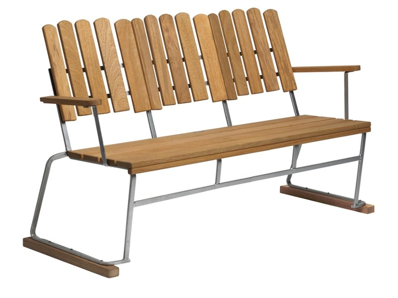 Bench with back 6 | Bench - Grythyttan Stålmöbler