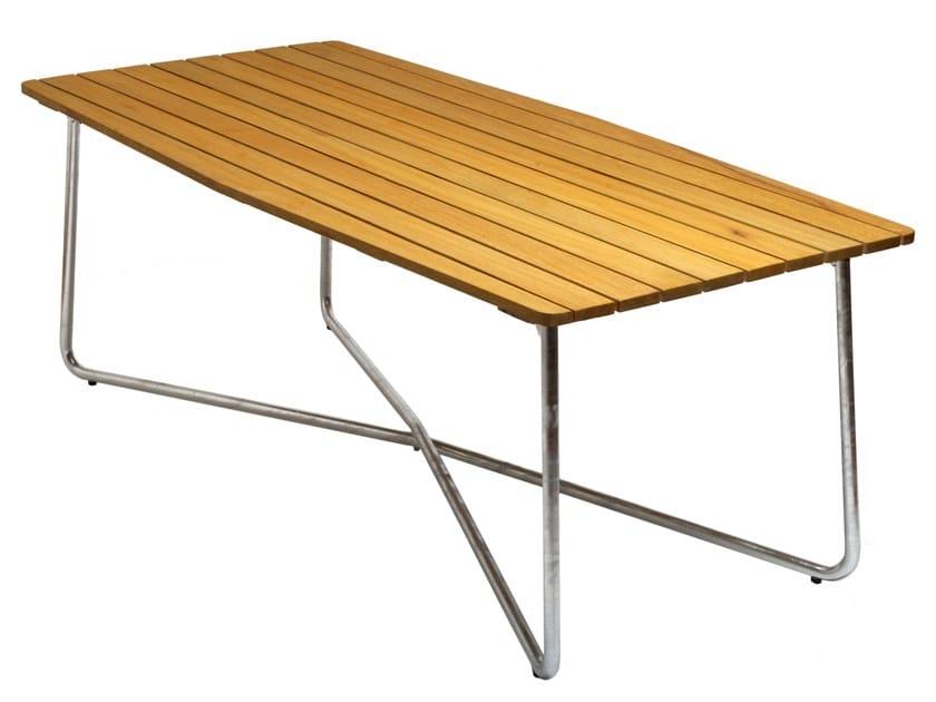 Rectangular garden table B30 190 | Garden table - Grythyttan Stålmöbler