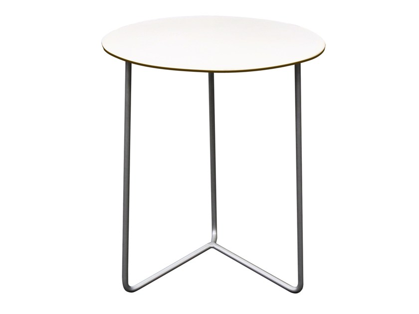 Round garden side table HIGH TECH | Garden side table - Grythyttan Stålmöbler