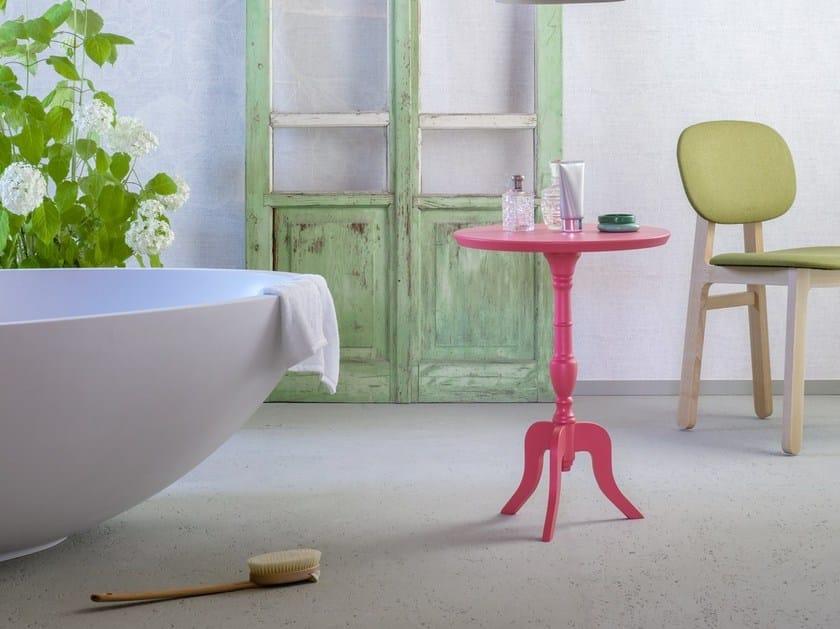 Tavolino Rotondo Legno Essenza Bim : Tavolino rotondo in legno dandy miniforms