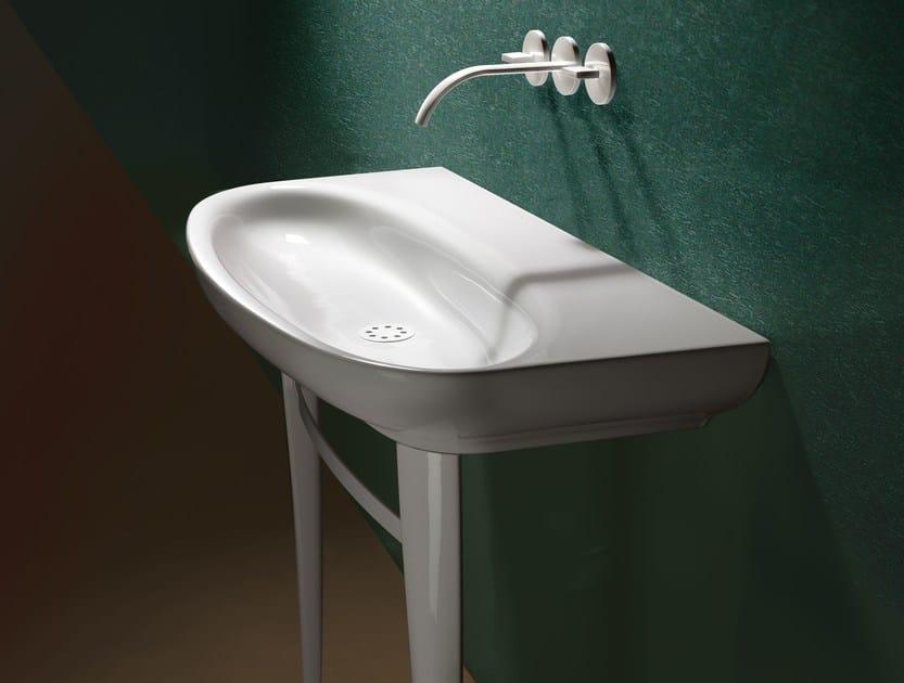 Wall-mounted ceramic washbasin MUSE 100 | Washbasin - CERAMICA CATALANO