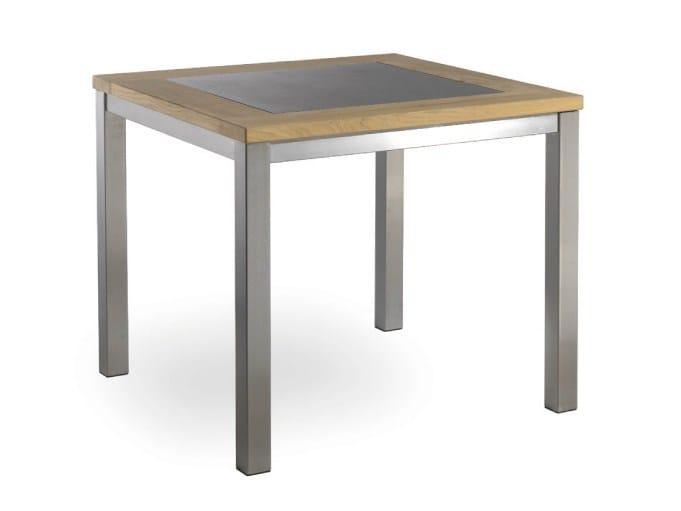 Square steel garden table LUGANO | Square garden table - MANUTTI